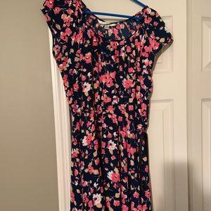 Lauren Conrad Floral Dress with Belt